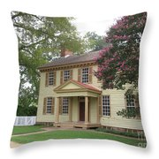 Homestead In Colonial Williamsburg Throw Pillow