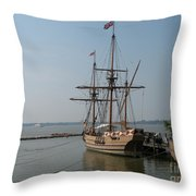 Homesteaders Sailing Ships Throw Pillow