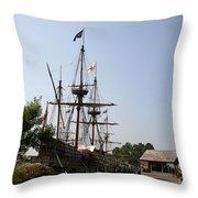 Homesteaders Ships Throw Pillow