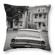 Hometown Usa Platium Print Throw Pillow