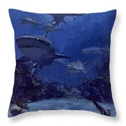Homing Into The Rookery, Dry Bar, 1975 Throw Pillow