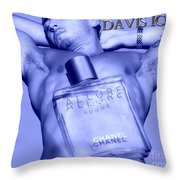 Homme Blu Throw Pillow