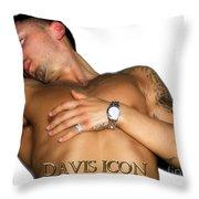 Homme White Throw Pillow