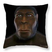 Homo Erectus Throw Pillow