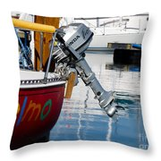 Honda Boat Engine Throw Pillow