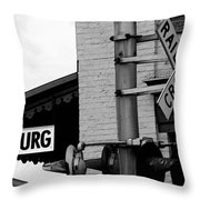 Honest Abe's Whistle Stop Throw Pillow