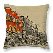 Honest Eds On Markham Street Throw Pillow