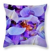 Honey Bee Cling Throw Pillow