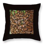 Honey Bee Swarm Throw Pillow