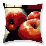 Honey Crisp Apples Throw Pillow