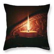 Honey Fire Throw Pillow