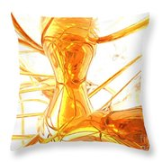 Honey Painted Abstract Throw Pillow