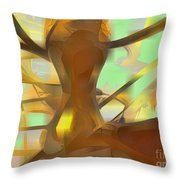 Honey Pastel Abstract Throw Pillow