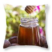 Honey Throw Pillow