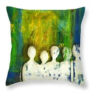 Honey... The Angels Are Here Throw Pillow