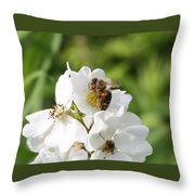 Honeybee Hands Throw Pillow