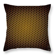 Honeycomb Background Throw Pillow