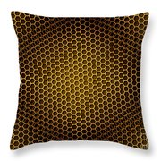 Honeycomb Background Seamless Throw Pillow
