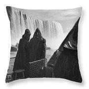 Honeymooners At Niagara Falls Throw Pillow
