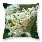 Honeysuckle #2 Throw Pillow by Robert ONeil