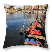 Honfleur Harbor  Throw Pillow