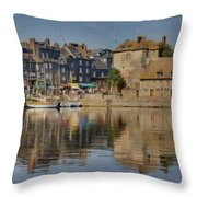 Honfleur In Normandy France Throw Pillow
