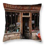 Honfleur Shop Front Throw Pillow