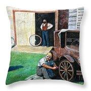 Hong Hing Mural Detail Throw Pillow