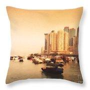 Hong Kong Harbour 02 Throw Pillow
