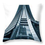 Hong Kong Icc Skyscraper Throw Pillow