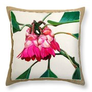 Hong Kong Rose Throw Pillow
