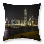 Hong Kong Skyline Throw Pillow