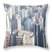 Hong Kong Suburbs Throw Pillow