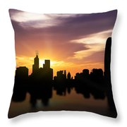 Hong Kong Sunset Skyline  Throw Pillow