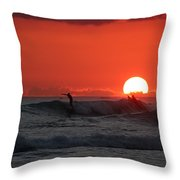 Honolulu At Sundown Throw Pillow