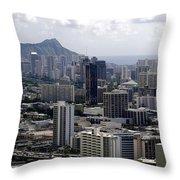 Honolulu - Diamond Head - Pacific Throw Pillow
