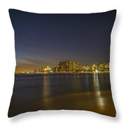 Honolulu Evening Throw Pillow