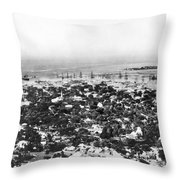 Honolulu, Hawaii Throw Pillow