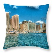 Honolulu Hi 2 Throw Pillow