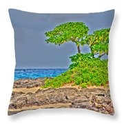 Honolulu Hi 7 Throw Pillow