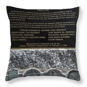 Honored Blacks Throw Pillow