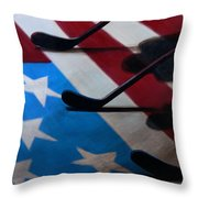 Honoring America Throw Pillow