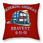 Honoring Americas Bravest From Sept 11 Throw Pillow