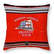 Honoring Americas Bravest Sept 11 Throw Pillow