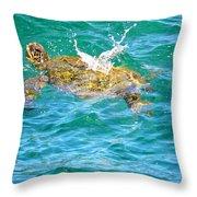Honu Hawaiian Green Sea Turtle Throw Pillow