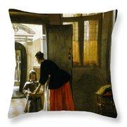 Hooch Boy & Bread, C1663 Throw Pillow