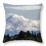 Hood In The Clouds  Throw Pillow