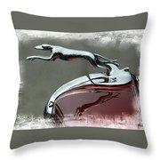 Hood Ornament Throw Pillow