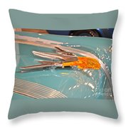 1955 Pontiac Hood Ornament Throw Pillow