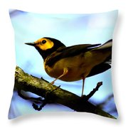 Hooded Warbler - Img 9290-002 Throw Pillow